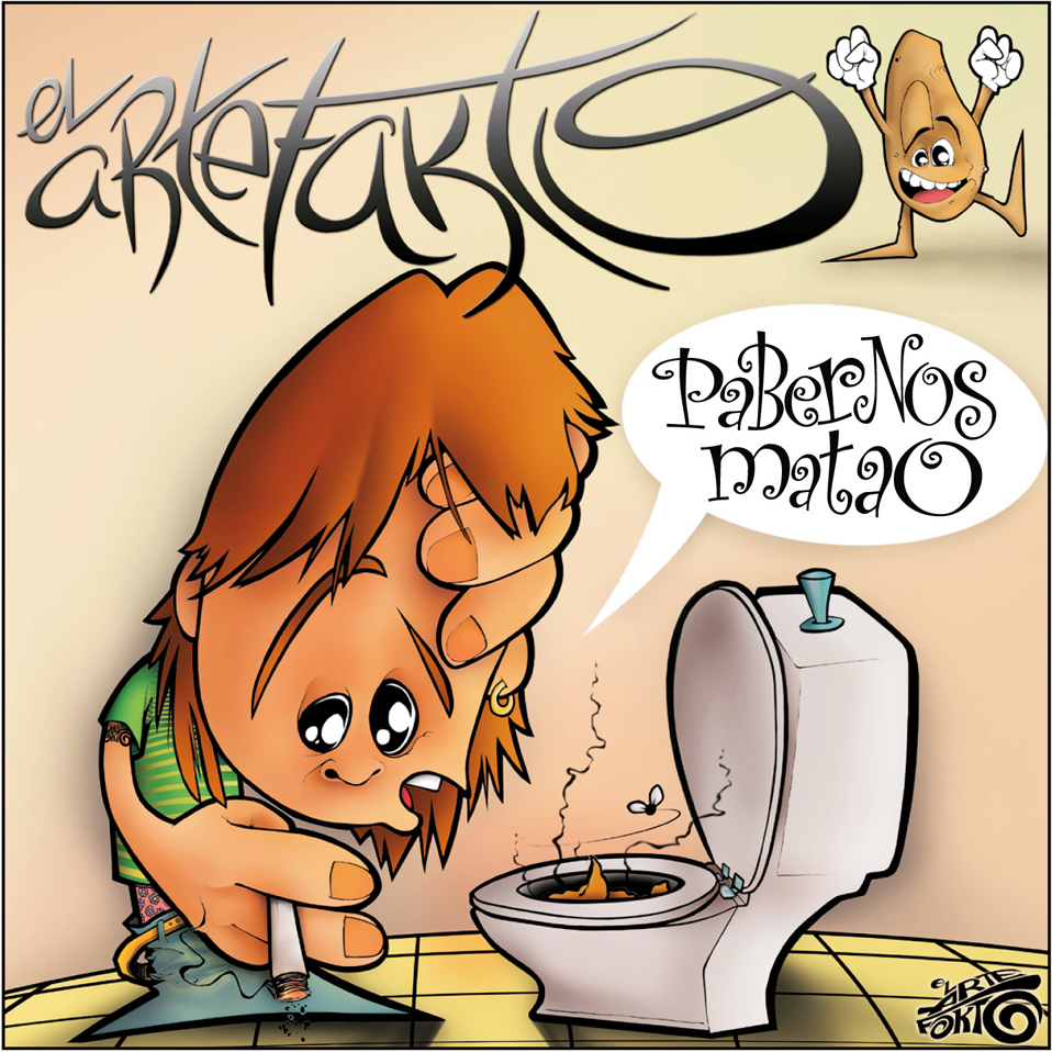 """Ilustración portada maqueta """"EL ARTEFAKTO"""""""