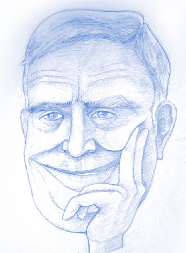 Caricatura Luis María Ansón