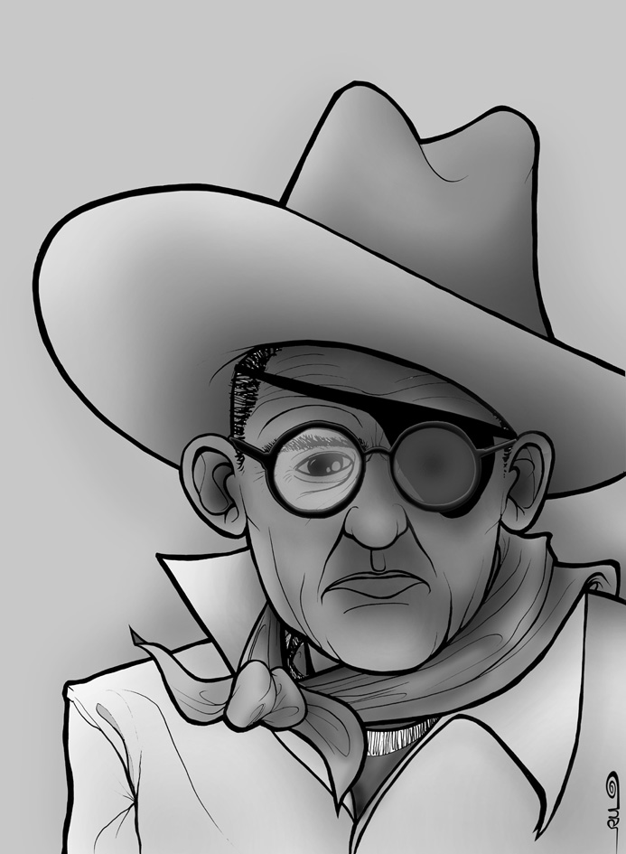 Caricatura de John Ford