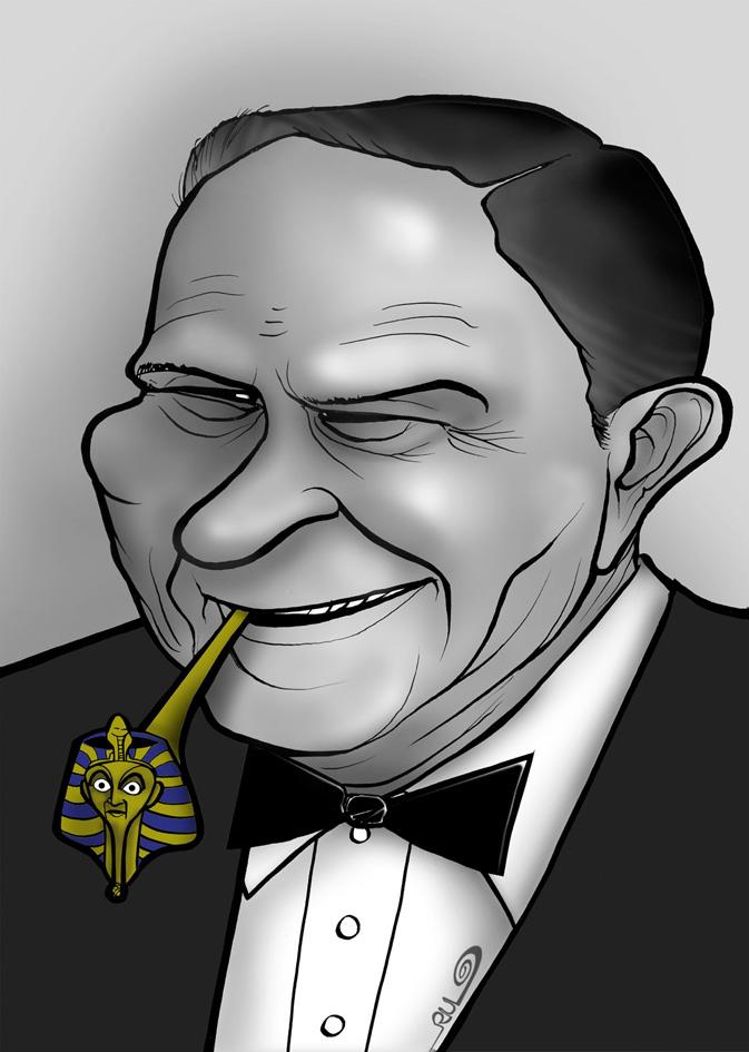 Caricatura de Joseph Mankiewicz
