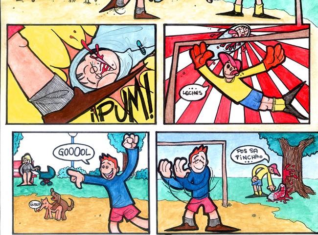 """Comic """"Er fúmbol e ansí"""""""