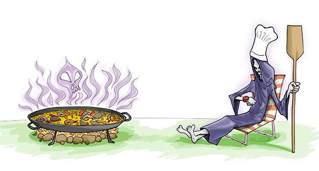 Ilustración MUERTE EN ESPAÑA (Babylon Magazine nº 7)