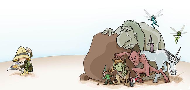 Ilustración LUGARES MAGICOS (Babylon Magazine nº 8)