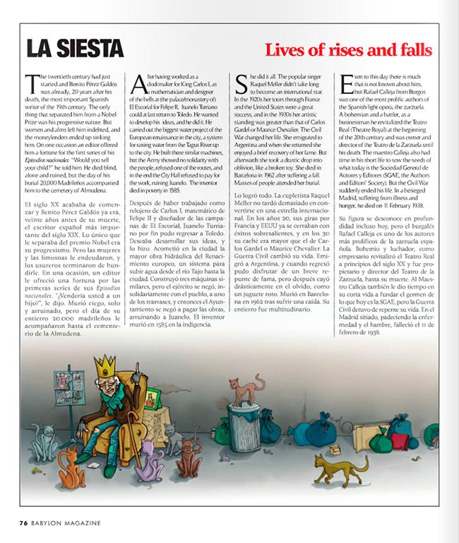 Maqueta final Ilustración EX RICO (Babylon Magazine nº 14)