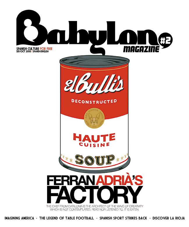 Ilustración LATA EL BULLI Portada Babylon Magazine 2