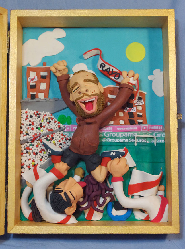 Retrato en plastilina BUCO EN EL ESTADIO DE VALLECAS 2