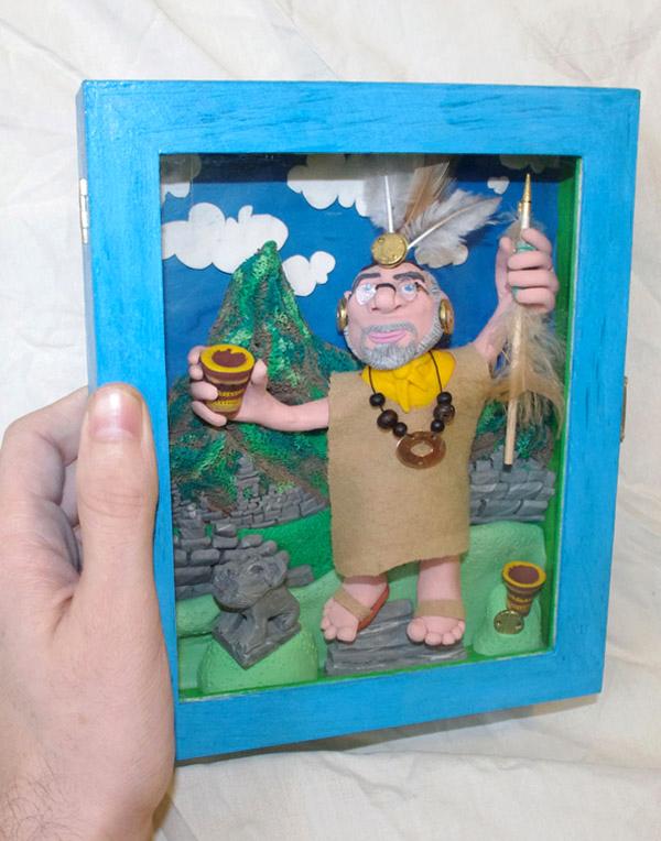 Retrato en plastilina LUIS DE INCA 3