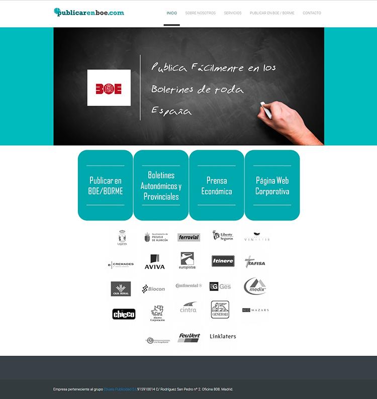Diseño web Home PUBLICAR EN BOE
