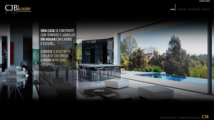 Diseño y creación de web Home CJB LUXURY 1