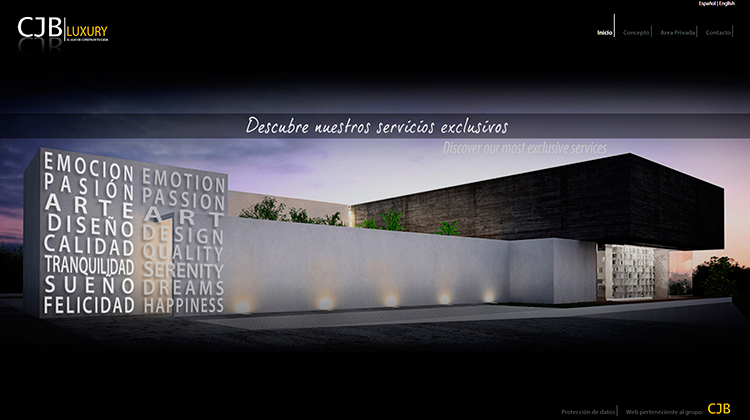 Diseño y creación de web Home CJB LUXURY 3