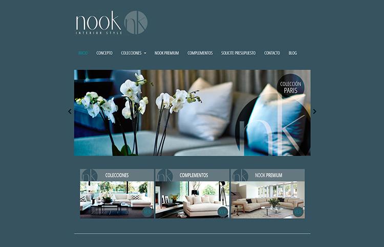 Diseño y creación de web Home NOOK INTERIOR STYLE