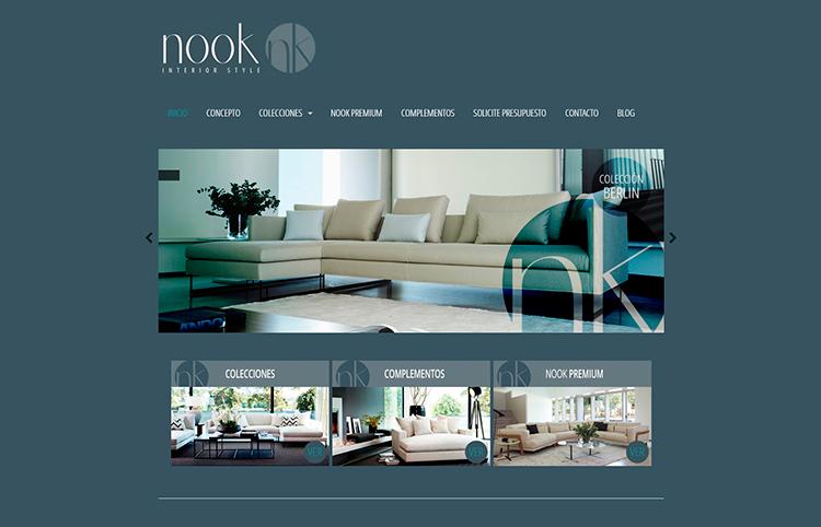 Diseño y creación de web Home NOOK INTERIOR STYLE 2