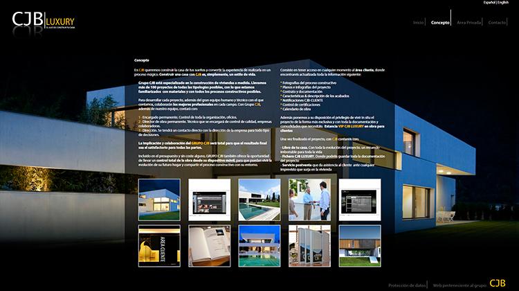 Diseño y creación de web Concepto CJB LUXURY