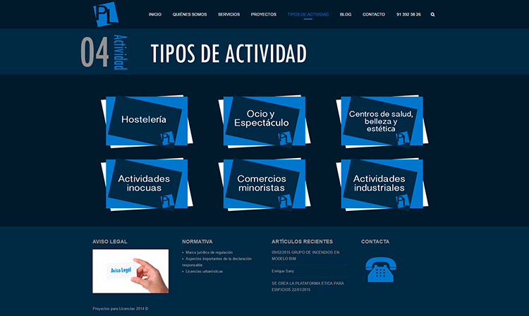 Diseño y creación de web Actividad PROYECTOS Y LICENCIAS