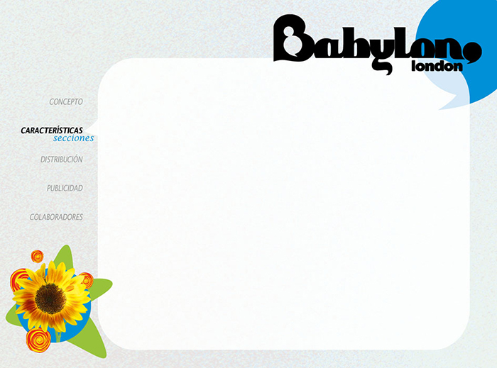 Diseño pagina Presentacion BABYLON MAGAZINE pag 3