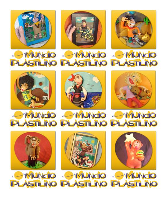 Diseño imagenes sidebar web MUNDO PLASTILINO