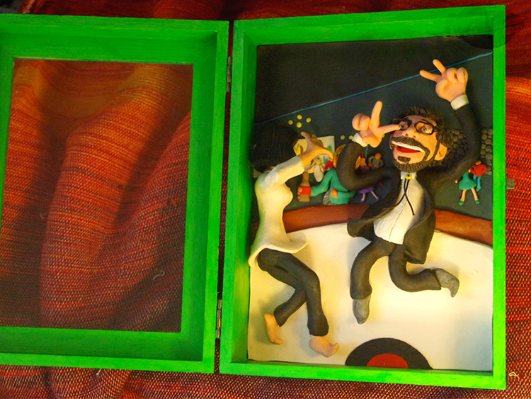 Retrato en plastilina JORDI EN PULP FICTION 2