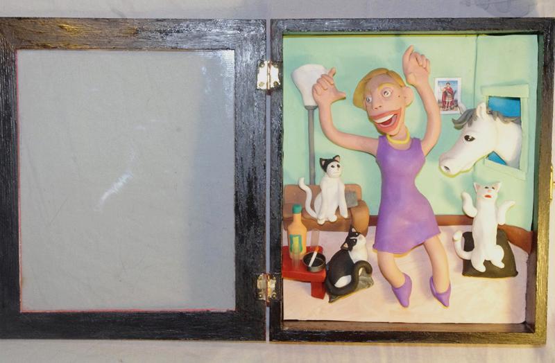 Retrato en plastilina BERTA Y SUS MASCOTAS 2