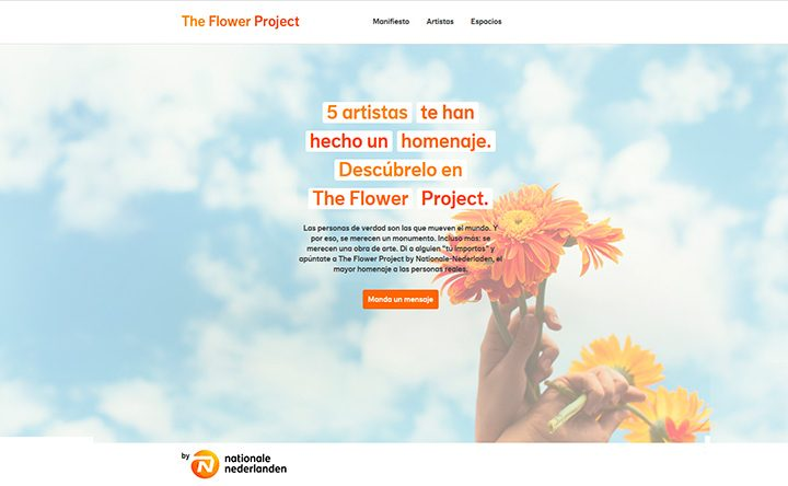 Creación plantilla Web THE FLOWER PROJECT 1