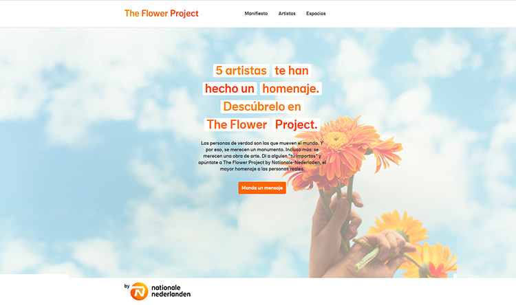 Creación plantilla Web THE FLOWER PROJECT 1