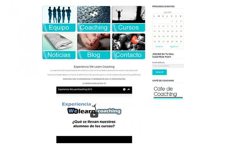 Diseño y creación de web Home WE LEARN COACHING