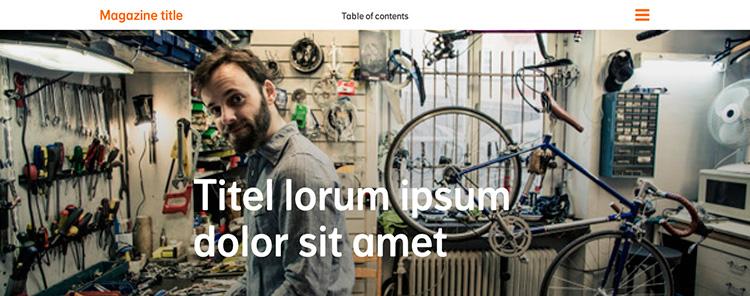 Creación plantilla Web Menu THE FLOWER PROJECT 1