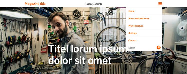 Creación plantilla Web Menu THE FLOWER PROJECT 2
