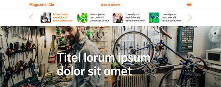 Creación plantilla Web Menu THE FLOWER PROJECT 3