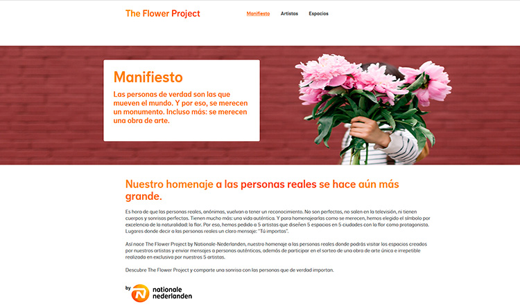 Creación plantilla Web THE FLOWER PROJECT 2