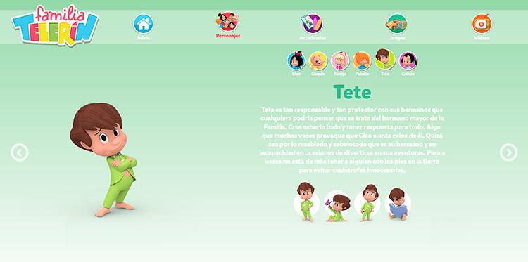 Adpataciones responsive Web Personajes 2 FAMILIA TELERIN 1280