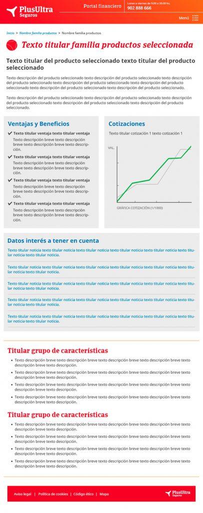 Diseño web Responsive Producto SEGUROS PLUS ULTRA 768