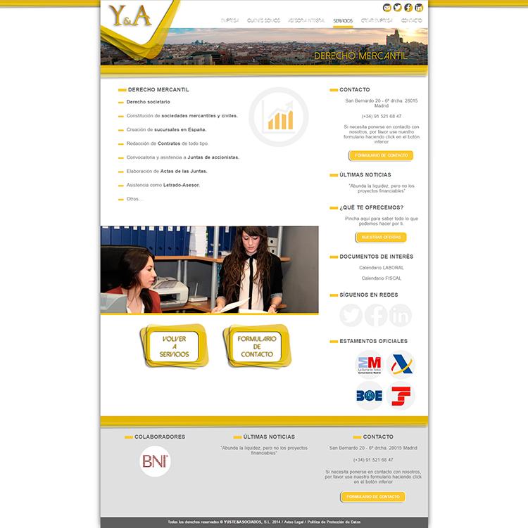 Diseño web Servicios 2 YUSTE Y ASOCIADOS