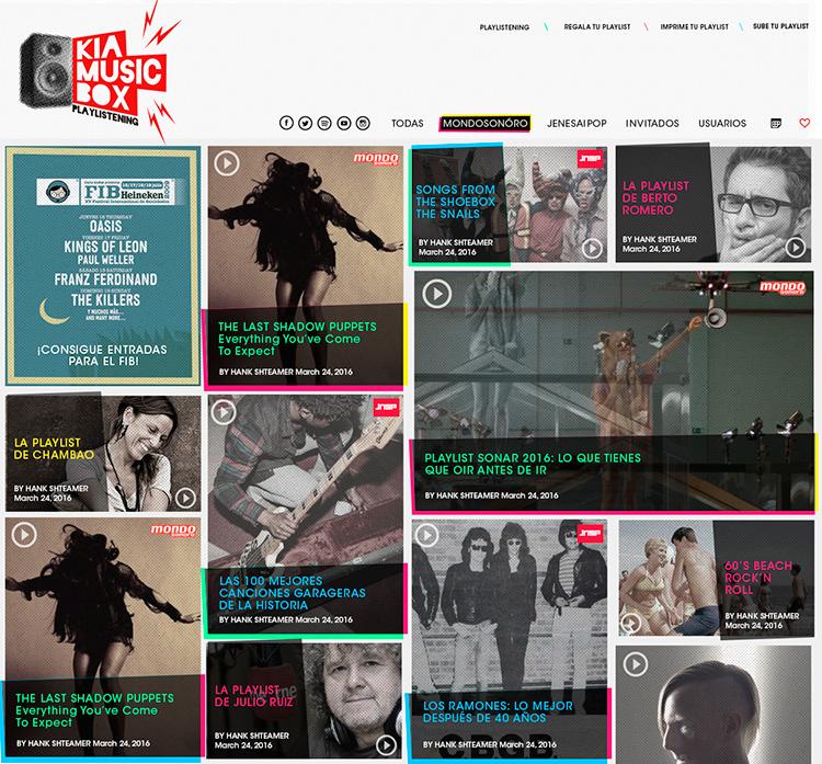 Diseño web Responsive Home KIA MUSIC BOX 1280