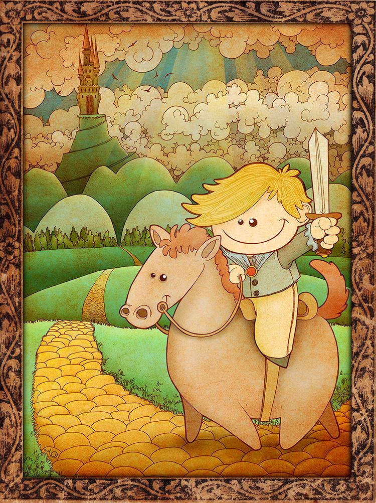 Ilustración CABALLERO ANDANTE