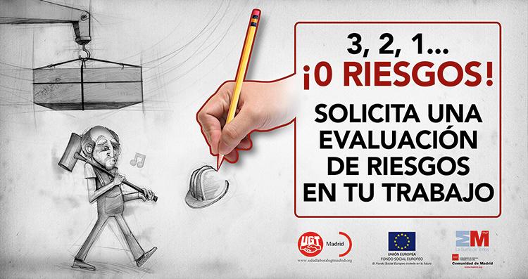 Ilustración y diseño carteles Campaña PREVENCION UGT MADRID 2