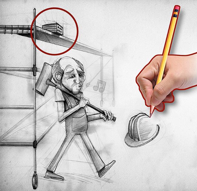 Ilustración y diseño carteles Campaña PREVENCION UGT MADRID 3