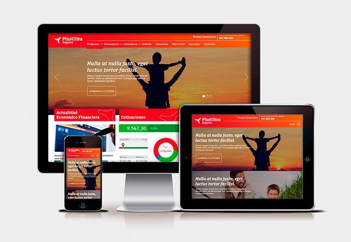 Diseño web responsive PLUS ULTRA simulacion