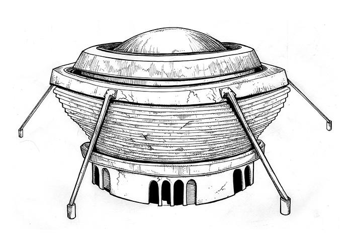 Ilustraciones EDIFICIOS EN RUINAS AUDITORIO