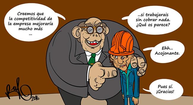 Ilustración viñeta EMPRESA MAS COMPETITIVA