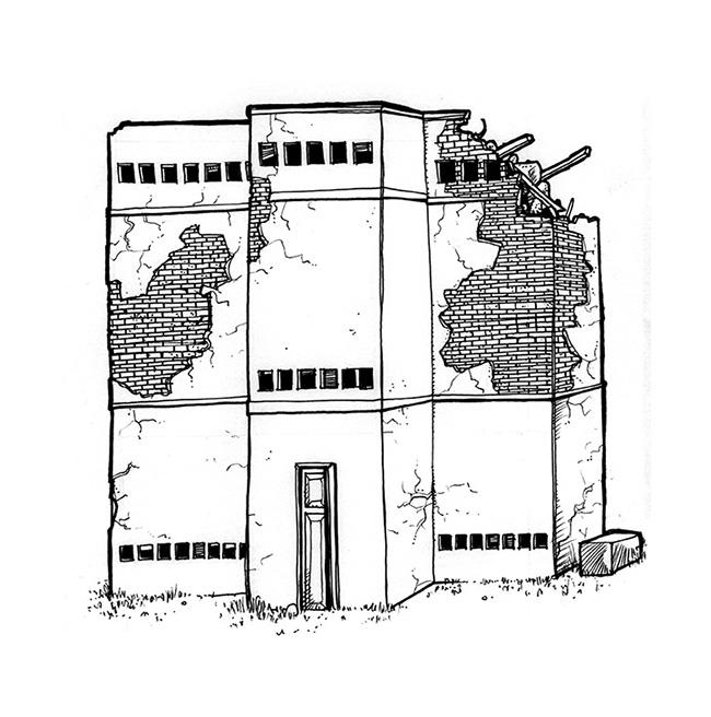 Ilustraciones EDIFICIOS EN RUINAS SALA DE GUION