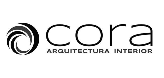 Diseño de logotipo Escala de grises CORA ARQUITECTURA INTERIOR