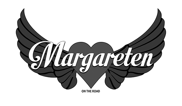 Diseño logotipo ByN MARGARETEN ON THE ROAD