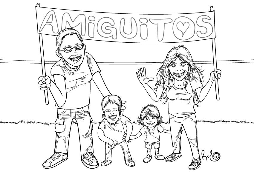 Lineas originales Ilustración AMIGUITOS