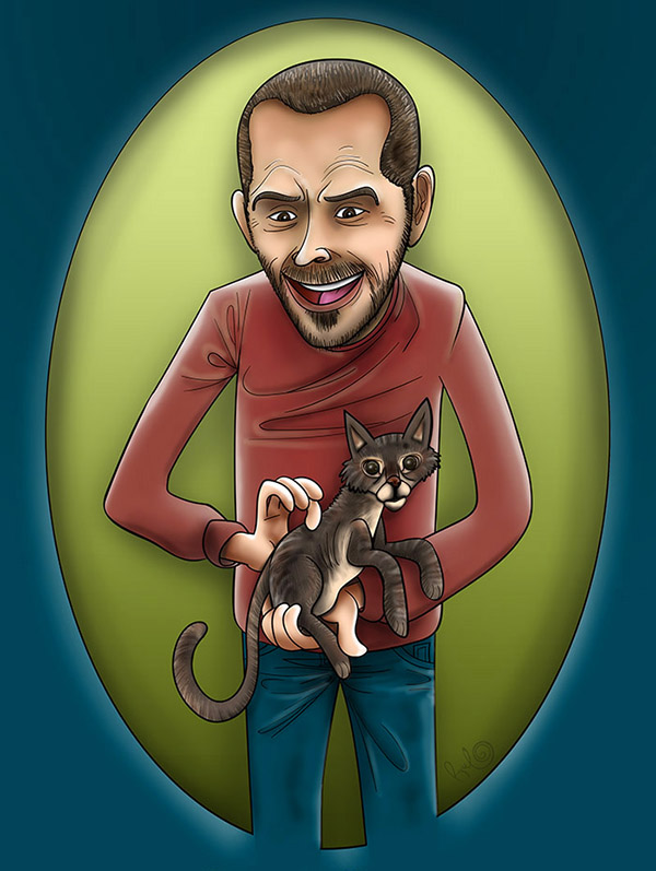 Imagen destacada ilustración retrato YANNICK Y MINOU