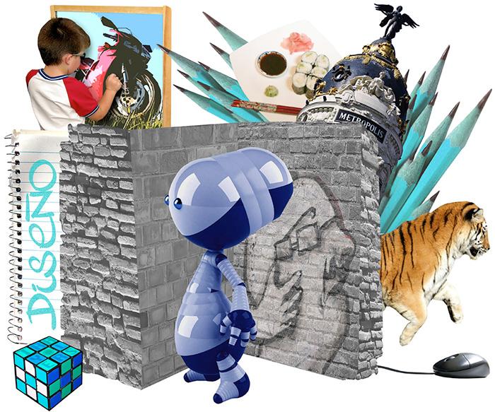 Diseño Gráfico Collage para slider web TRAYLERS 1 CREATIVIDAD