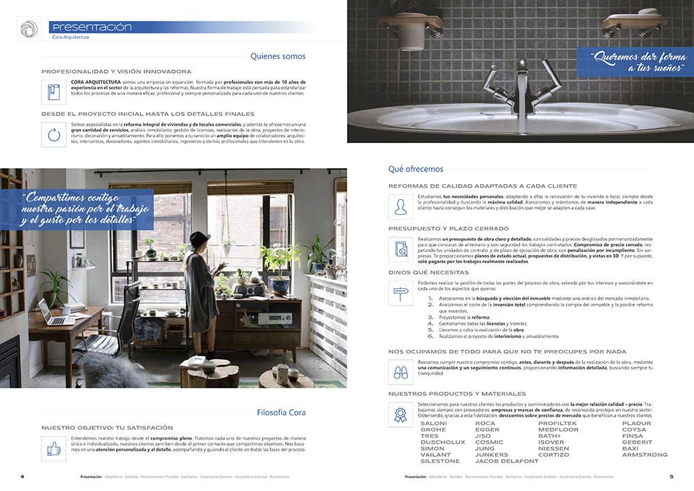 Diseño y maquetación CATALOGO PRODUCTOS Y SERVICIOS CORA ARQUITECTURA 2017 pliego 3