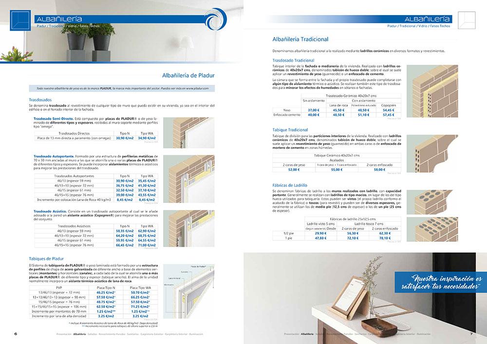 Diseño y maquetación CATALOGO PRODUCTOS Y SERVICIOS CORA ARQUITECTURA 2017 pliego 4