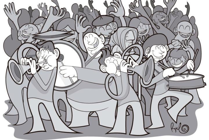 Ilustracion Fiestas Malpartida de Corneja 2017 CHARANGUISMO ILUSTRADO