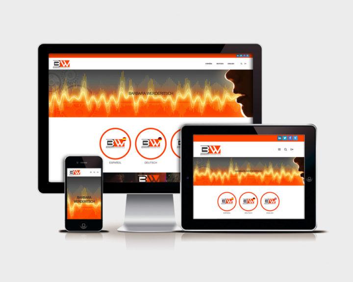 Simulacion responsive Diseño y desarrollo web BARBARA WERDERITSCH