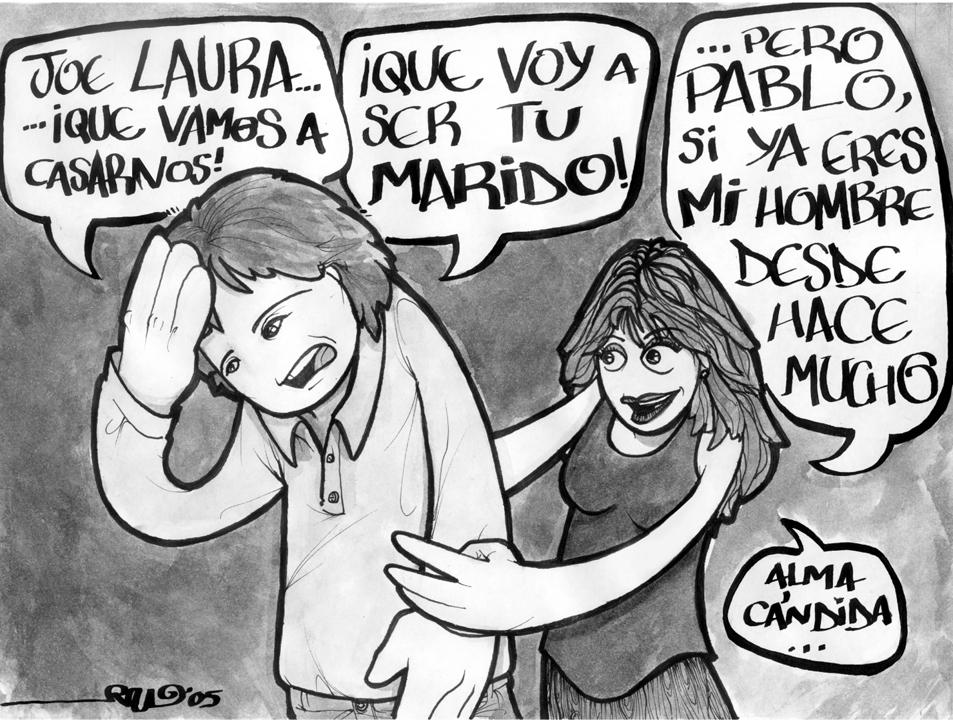 Viñeta boda Pablo y Laura